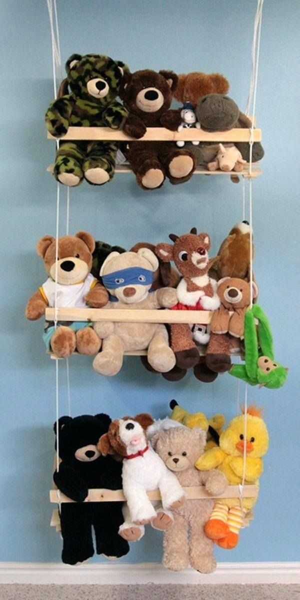 15 storage ideas for stuffed animals to keep the nursery entertained ...