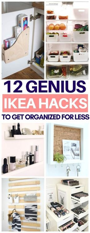 So glad I read this list of organization Ikea hacks before going there today! Ch...