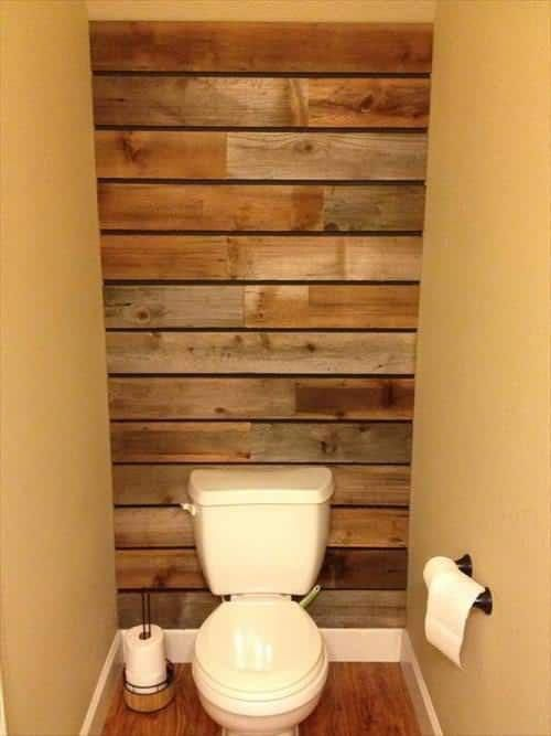 17 Rustic Bathroom Ideas You Can Make With Pallet Wood Pallet Shelves & Pallet C...