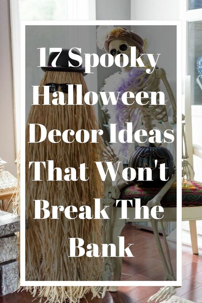 17 spooky halloween decor ideas! Your guiests and trick or treaters will be seri...