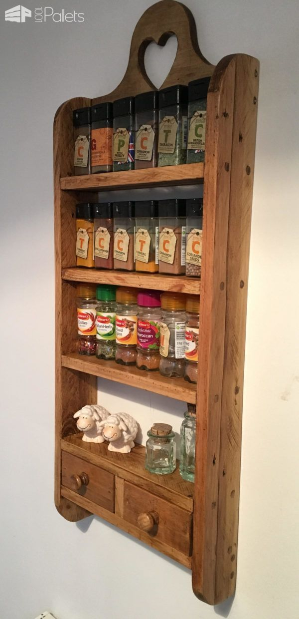 2-drawer Pallet Spice Rack  2-drawer Pallet Spice Rack Pallet Shelves & Pallet C...