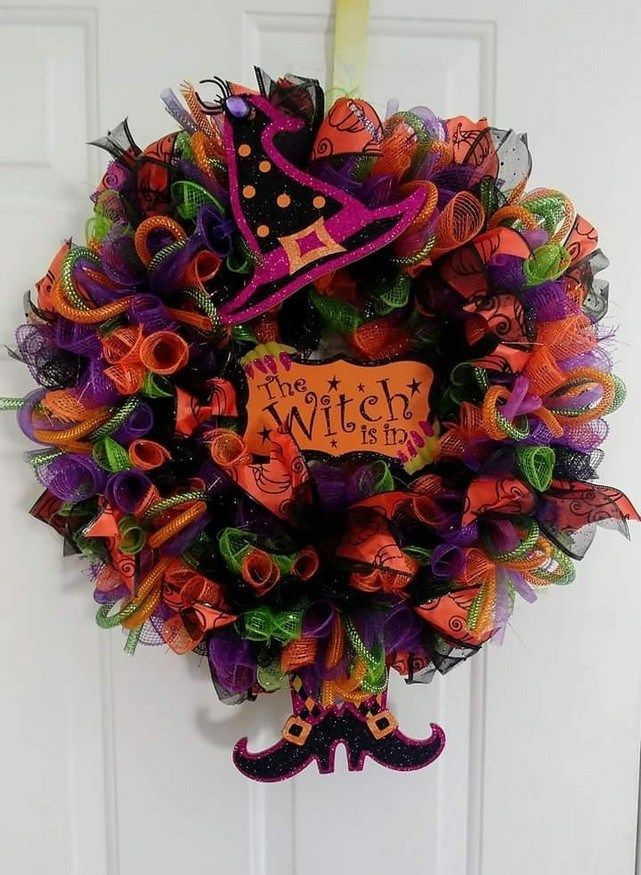 20 Adorable Diy Halloween Wreaths Design Ideas - lmolnar