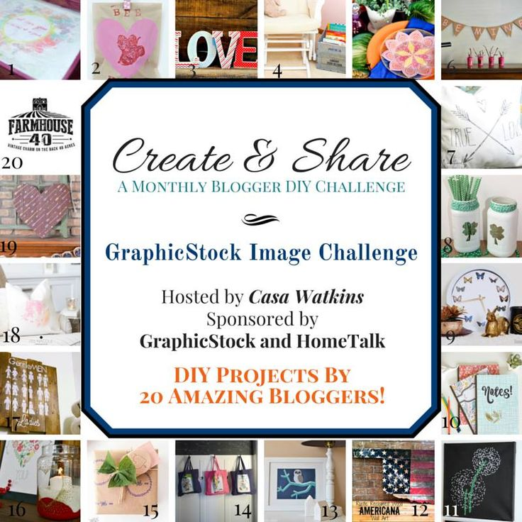 20 DIY Projects by 20 Amazing Bloggers! GraphicStock Image Challenge www.refashi...