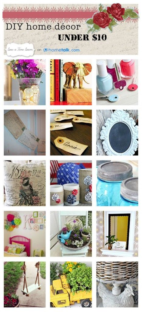 23 amazing home decor ideas for under $10! Check out all the fun summer projects...