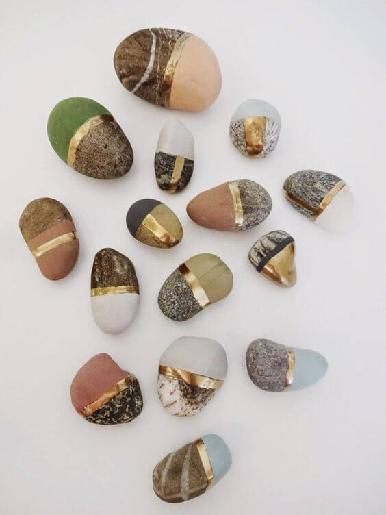 27 Creative DIY Home Decor Ideas with Pebbles and River Rocks That Have a Good Ge ...