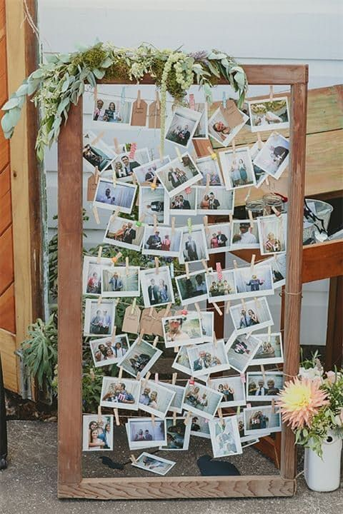 30+ photo walls and photo collages ideas - wedding photo wall