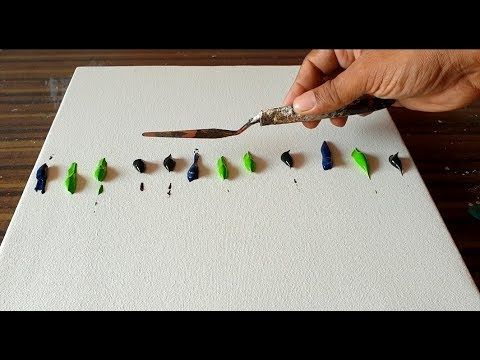 (38) Easy Abstract Landscape Painting/Using palette knife & Acrylics/Satisfying/...