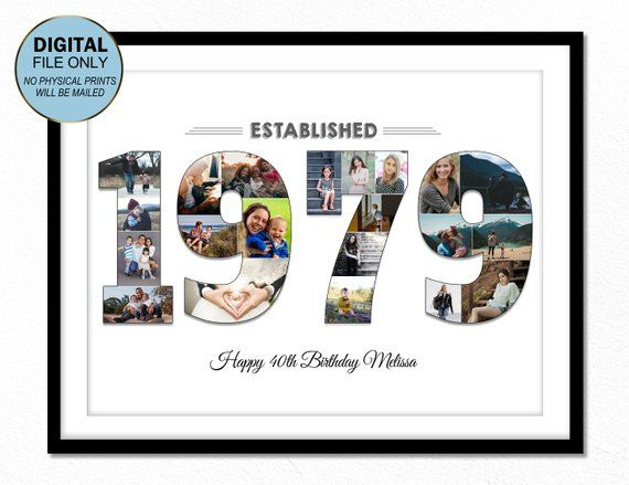 40 forty birthday gift photo 40 40 birthday photo collage, 40thforty birthday ...