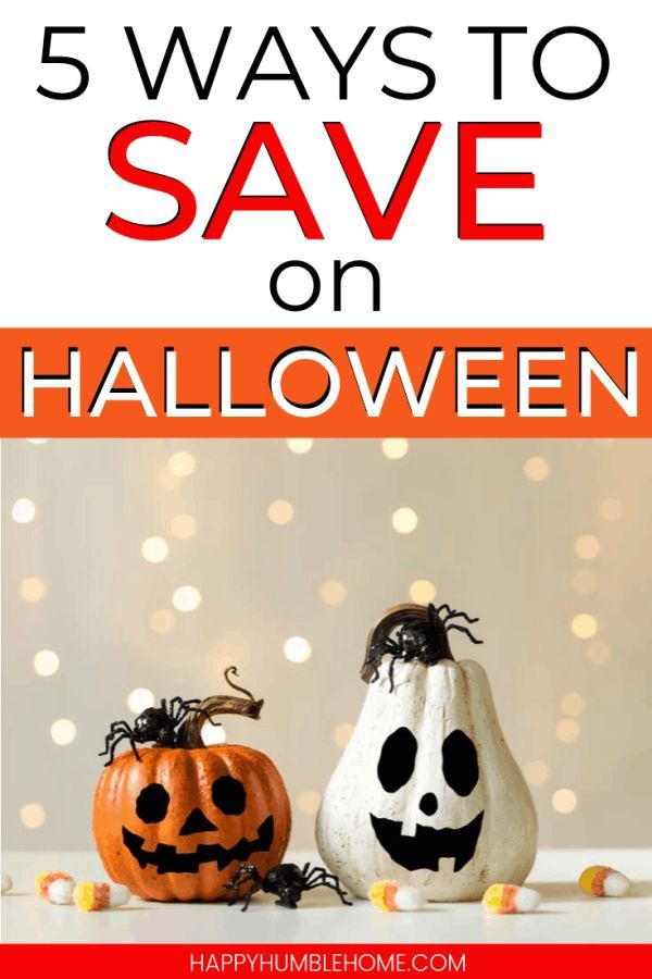 5 Ways to Save on Halloween - Smart frugal living ideas for saving money this Ha...