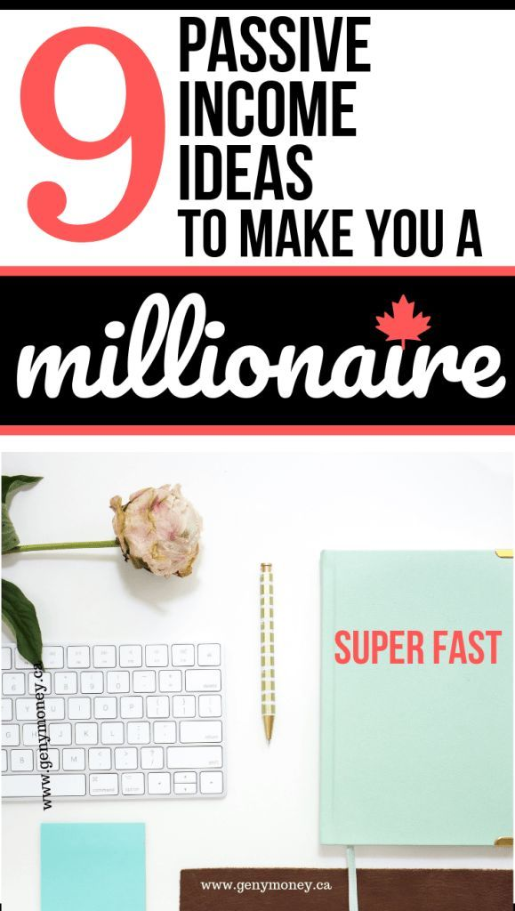 9 Easy Passive Income Ideas for Canadians to Build Wealth. Passive income Ideas ...
