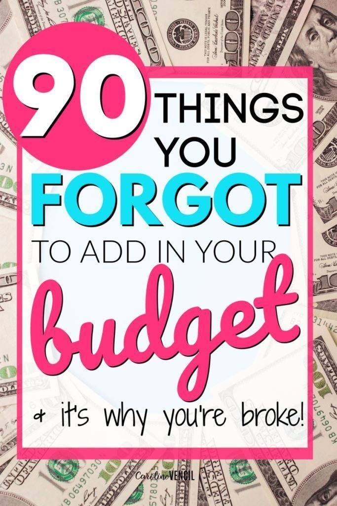 90+ Budget Categories That You're Forgetting About - #Budget #Categories #Forget...