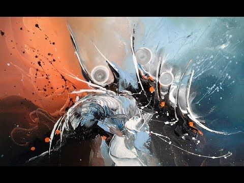 Abstract Painting / DEMO 58 / Abstract Art / How to Paint / Painting Techniques ...