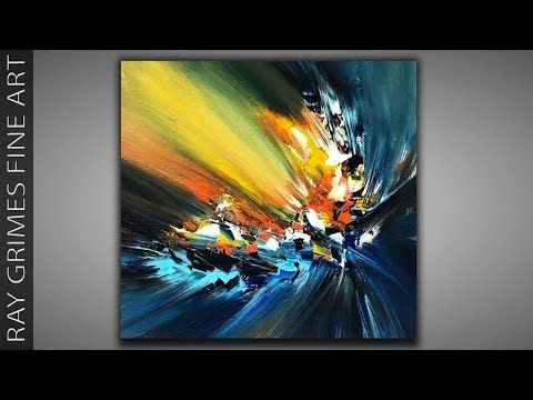 Abstract Painting Techniques / Acrylics / 197 / Relaxing / Painting Demonstratio...