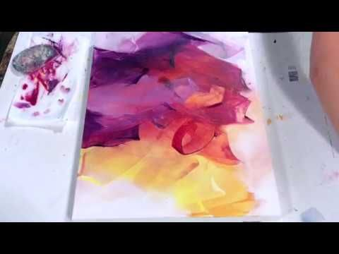 Abstract Painting Techniques using Acrylics (Timelapsed Demonstration)