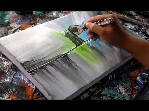 "Abstract painting on canvas / Acrylics / ""R-13 by Roxer Vidal"" - YouTube"