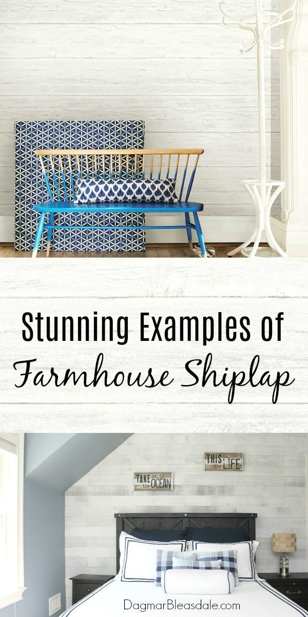Add shiplap to any room for the farmhouse look! Here are 11 stunning examples. #...