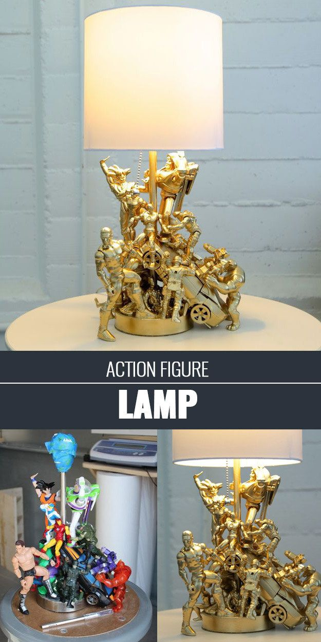 An old lamp + action figures = the coolest kids lamp ever. 74 delusion ...