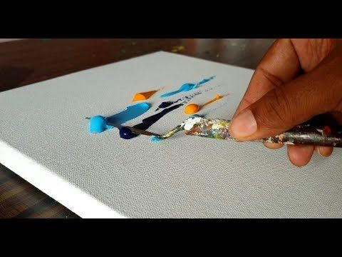 Beautiful Abstract Painting / Easy / Very Satisfying / Demonstration / Project 3...