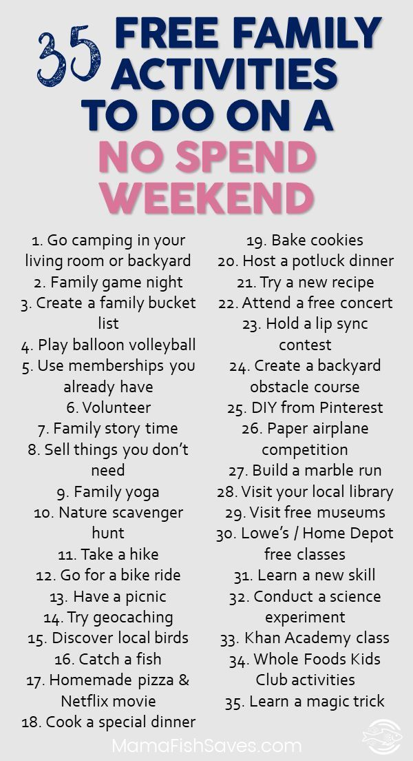 Best free family activities to have fun without spending money   No spend weeken...