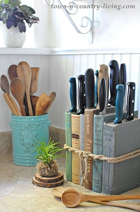 Book lovers beware! This # DIY knife block is easily tinkered and ...