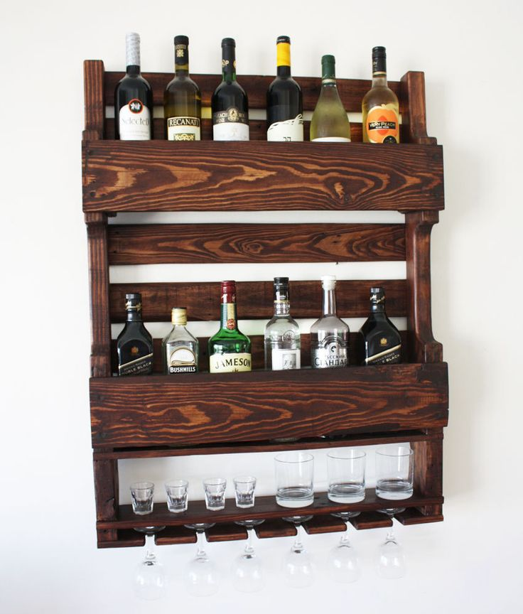 Bottle rack Wine rack made of wood Wine rack for wall