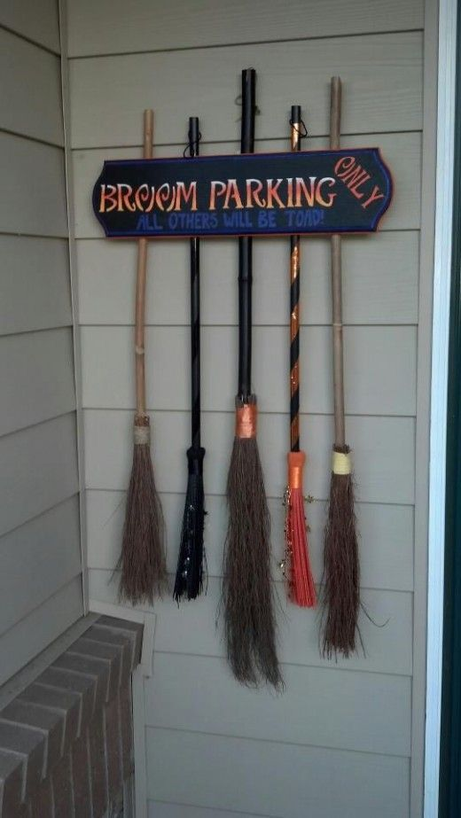 Broom Parking Sign, if you can find brooms! $ Tree does not have it in the ....