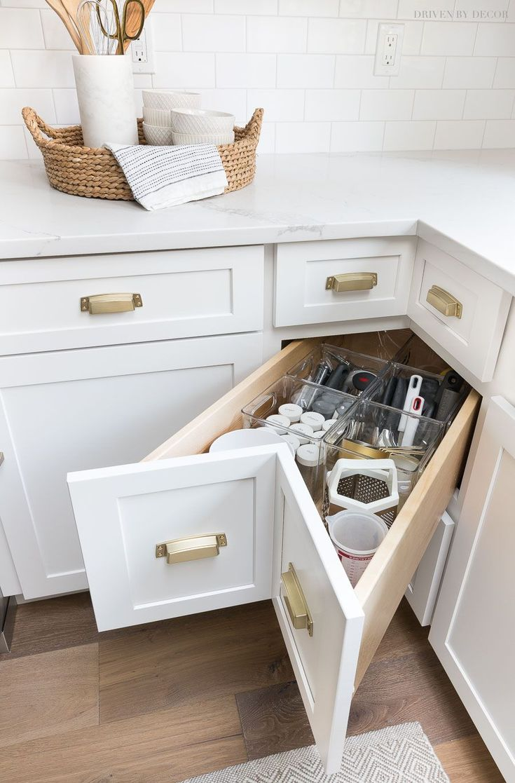 Cabinet Storage & Organization Ideas From Our New Kitchen! There are SO many fab...