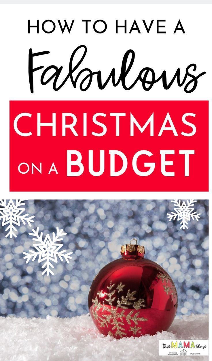 Celebrate Christmas on a budget with these frugal living and money saving tips! ...