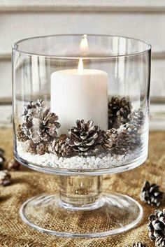 Christmas DIY: Simple winter elegan Simple winter elegance #christmasdiy #christ...