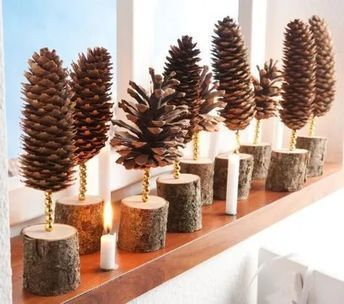 Christmas Decorations with Pine Cones - DIY Craft Ideas - Pine Cones Deco ...