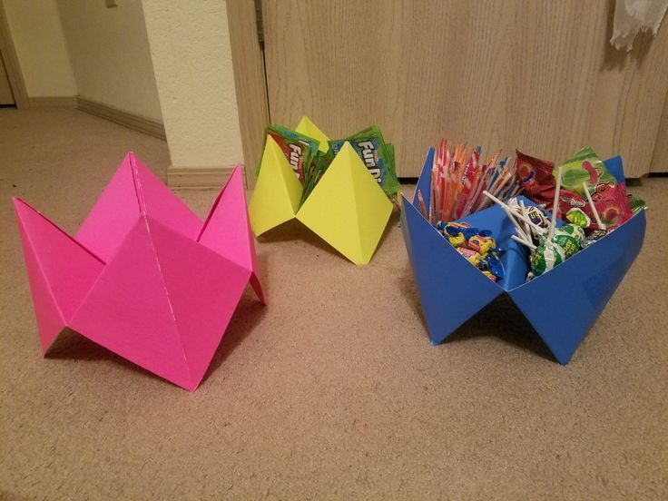 Cootie Catcher Candy Dishes 90s party theme ideas cheap and easy