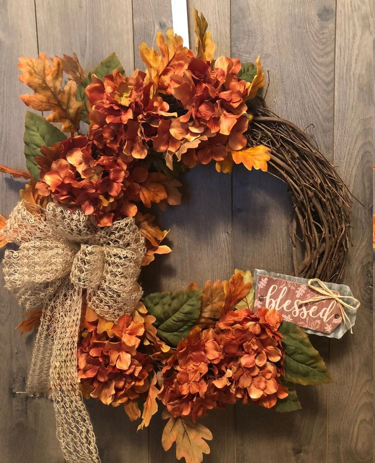 Country Winter decor - Autumn Wreath, Fall Wreath, Autumn Decor, Home Decor, Cou...
