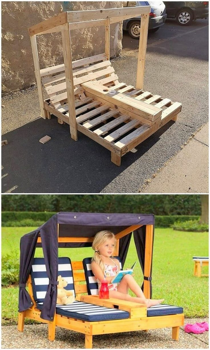 Creative DIY recycling ideas for shipping wooden pallets #diyprojects #ho ...