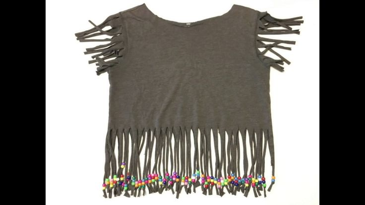 DIY 80's Shirt: Make a totally 80's fringe shirt with pony bead tassels ...