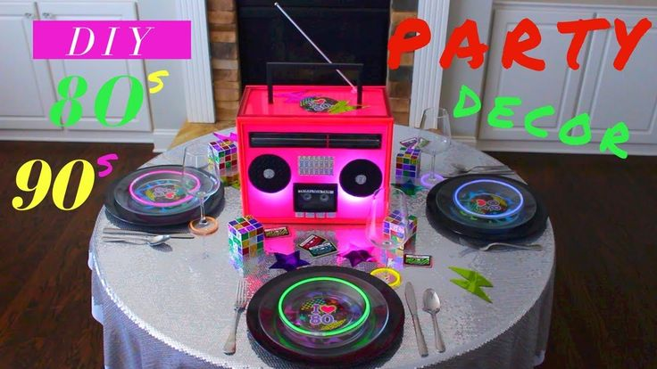 DIY 80s PARTY DECOR | DIY 90S PARTY DECOR | DIY BOOMBOX CENTERPIECE