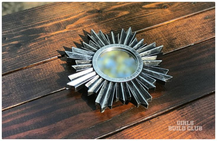 DIY Dollar Store Project for crafting a secret stash mirror with a hideaway hole...