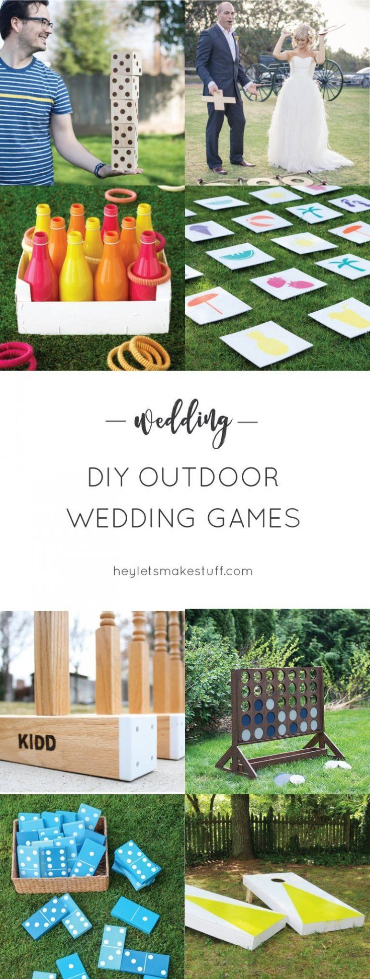 DIY Outdoor Wedding Games If you're having an outdoor wedding, lawn games ar...