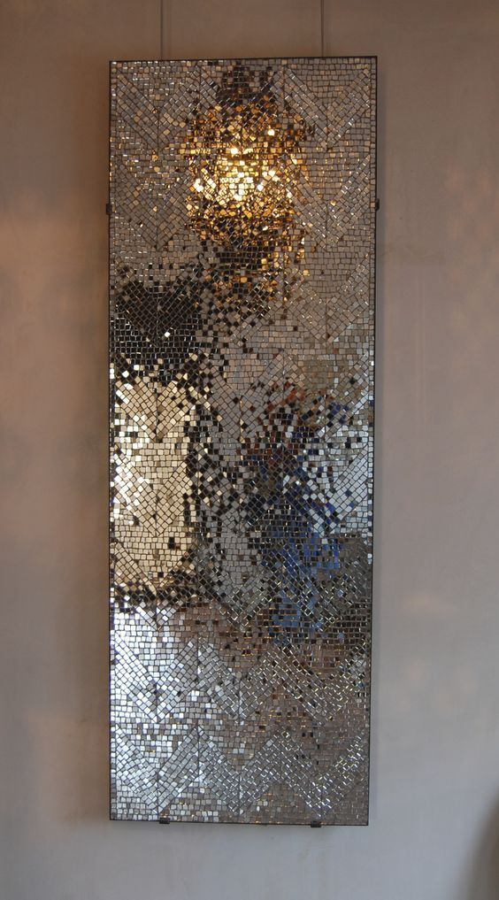 DIY Project: Mirror Mosaic Wall Art - #Art #DIY #mirror #mosaic #project #wall