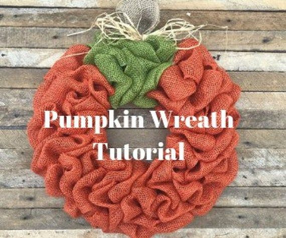 DIY Pumpkin Wreath Tutorial, Video Tutorial,  Fall Wreath Tutorial, Burlap Wreat...