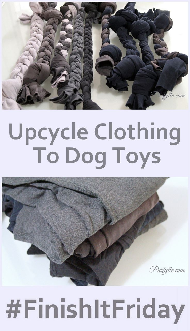 DIY Spieltau, Zerrspielzeug for dogs make themselves ... Purfylle: Upcycle Clothi ...