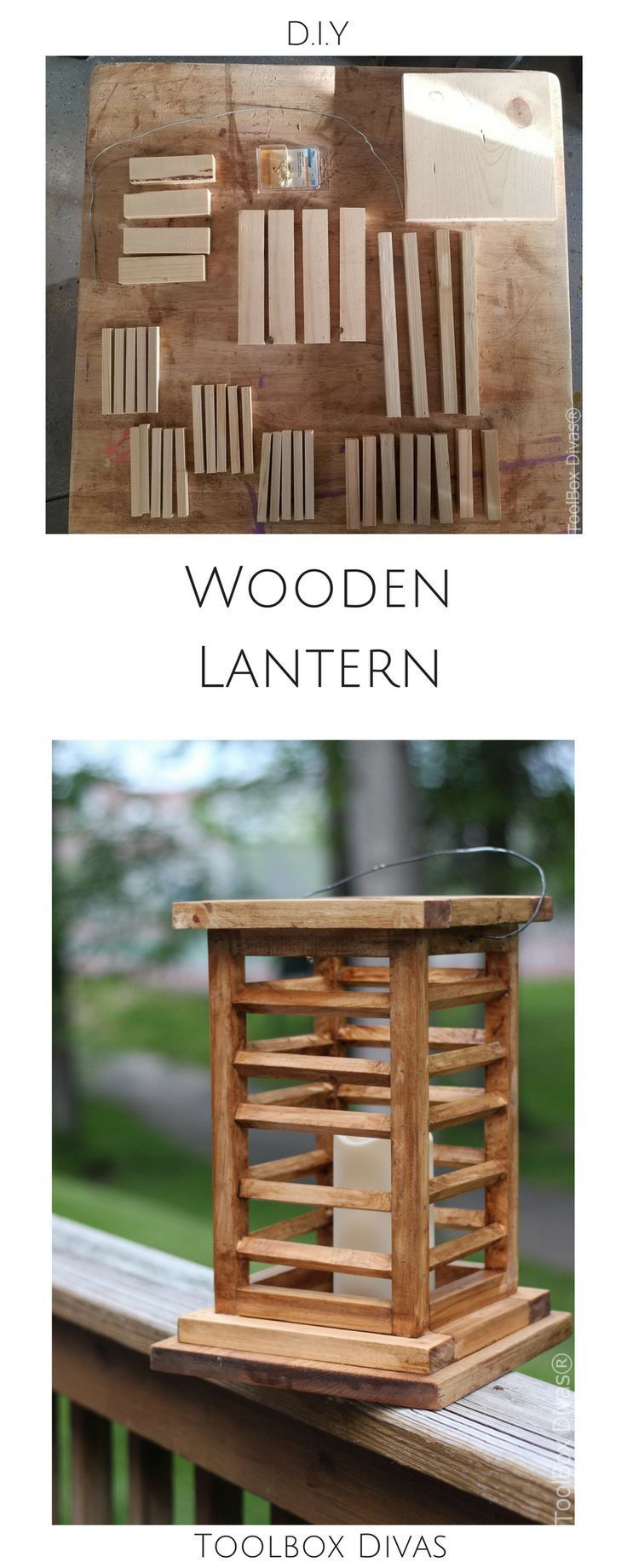 DIY decorative lanterns, candle lantern, outdoor lanterns. Free build plans. Too...