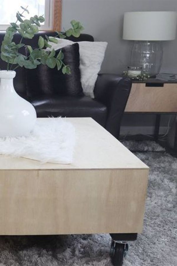 DIY modern coffee table. Design and build a modern coffee table on a budget with...