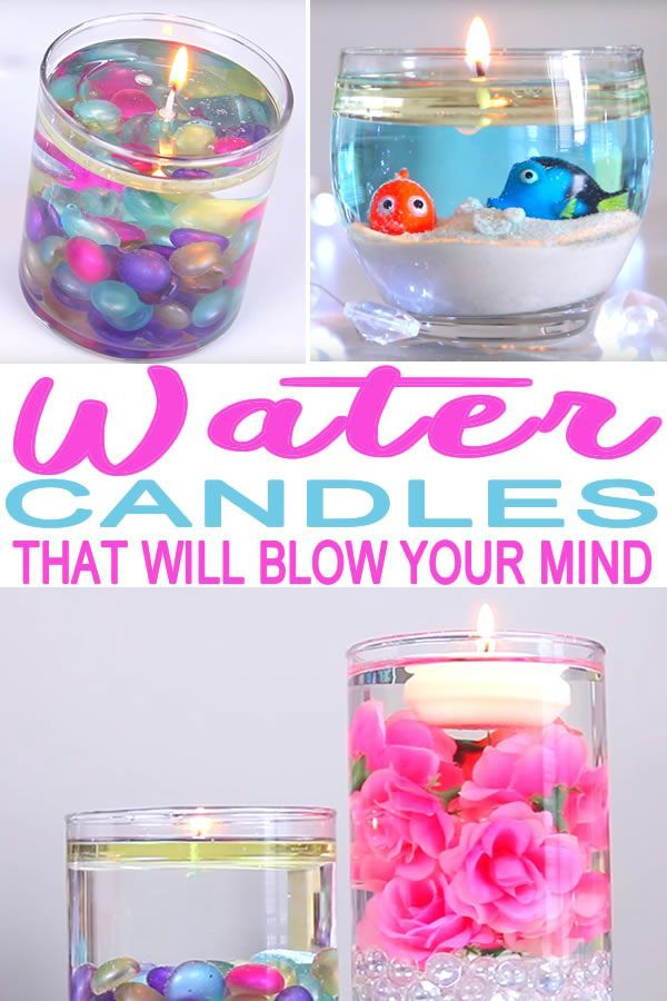 DIY water candles! Learn how to make these cute and fun water candles at home. H...