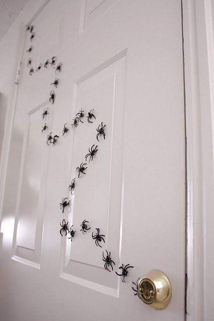 DIY your own spider trail with plastic spider rings. They'll lead you right ...