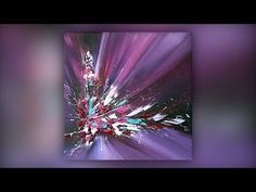 Easy Abstract Painting / Acrylics / Palette Knife / Colorful / Demo #027 - YouTu...