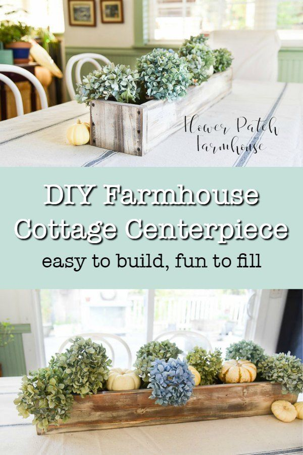 Easy DIY Farmhouse Cottage centerpiece.  Easy to build and fun to fill each seas...