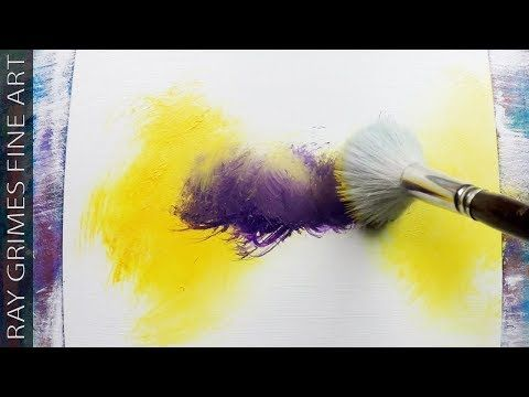 Easy Landscape / 165 / Relaxing / Yellow and Purple / Abstract Painting / Demons...