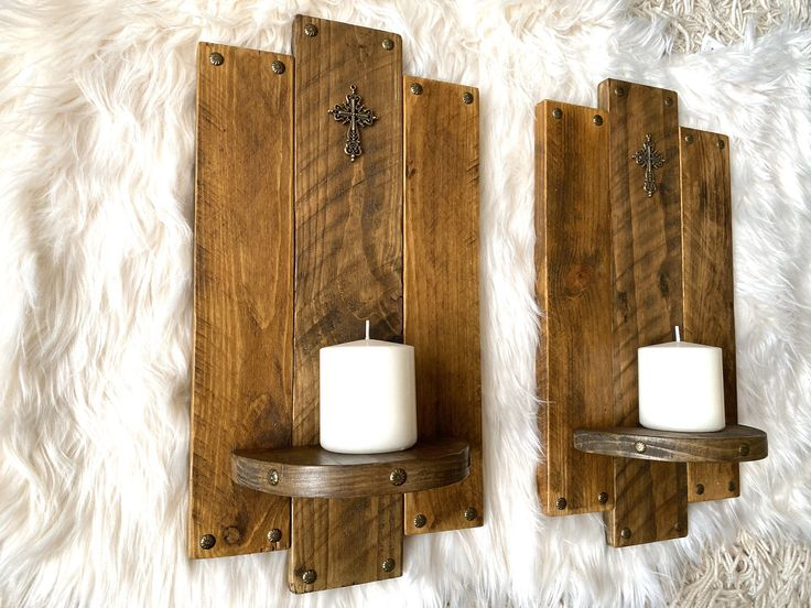Excited to share this item from my #etsy shop: Rustic handmade candle holders wa...
