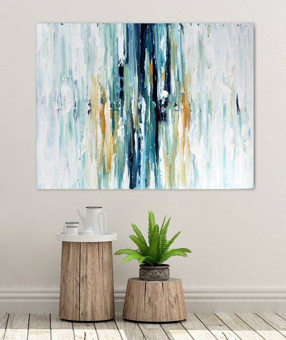 Extra Large Landscape Wall Art. Textured Abstract Painting.   Etsy