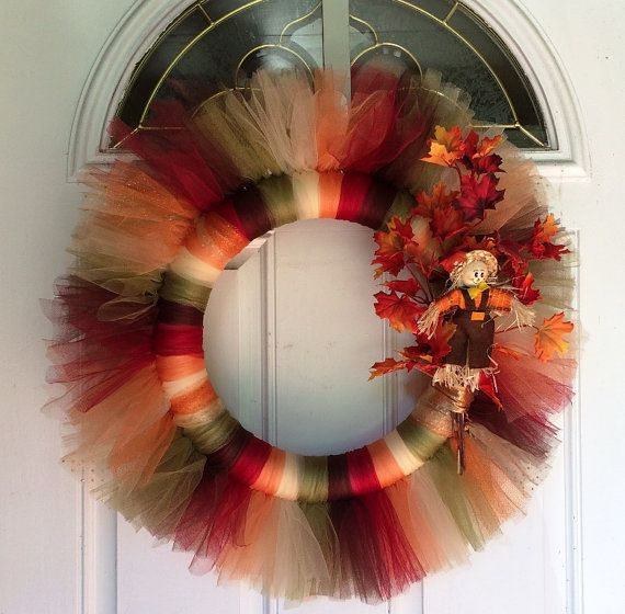 Fall / Autumn / Scarecrow Wreath / Seasonal Home Decor / Seasonal Office Decor/